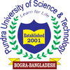 Pundra University of Science and Technology's Official Logo/Seal