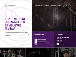 Syddansk Musikkonservatorium's Website Screenshot