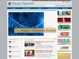 Óbudai Egyetem's Website Screenshot