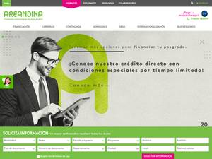 Fundación Universitaria del Area Andina's Website Screenshot