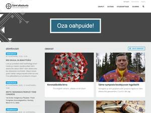 Sámi allaskuvla's Website Screenshot