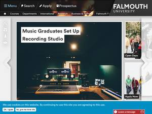 Falmouth University Screenshot