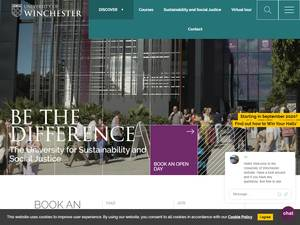 The University of Winchester's Website Screenshot
