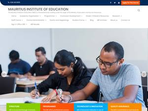 Mauritius Institute of Education's Website Screenshot