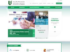 Université la Sagesse's Website Screenshot