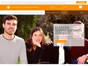 Università Europea di Roma's Website Screenshot