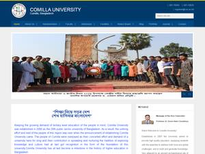 Comilla University's Website Screenshot
