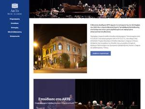 ARTE Music Academy's Website Screenshot