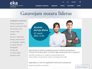 Ekonomikas un kulturas augstskola's Website Screenshot