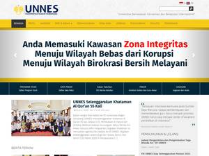 Universitas Negeri Semarang's Website Screenshot
