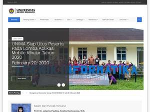 State University of Manado Screenshot