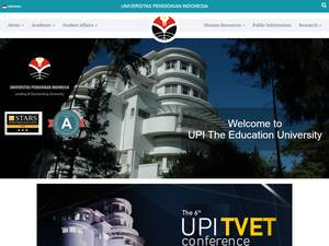Universitas Pendidikan Indonesia's Website Screenshot