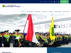 Universitas Palangka Raya's Website Screenshot