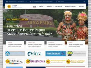 Universitas Cenderawasih's Website Screenshot