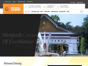 Universitas Jambi's Website Screenshot
