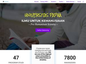 Universitas Papua's Website Screenshot