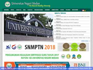 Universitas Negeri Medan's Website Screenshot
