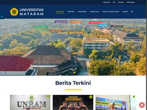 Universitas Mataram's Website Screenshot