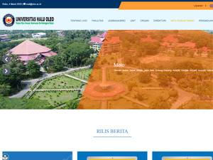Halu Oleo University Screenshot