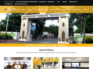 Universitas Lambung Mangkurat's Website Screenshot
