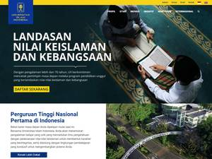 Universitas Islam Indonesia's Website Screenshot