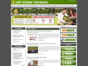 Universitas Pembangunan Nasional Veteran Yogyakarta's Website Screenshot