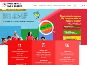 Universitas Nusa Bangsa Screenshot