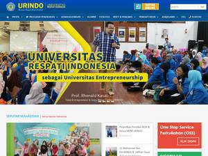 Respati University of Indonesia Screenshot