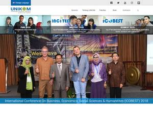 Universitas Komputer Indonesia's Website Screenshot