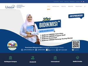 Universitas Muhammadiyah Sidoarjo's Website Screenshot