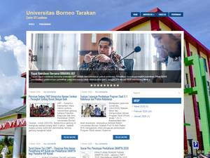 Universitas Borneo Tarakan's Website Screenshot