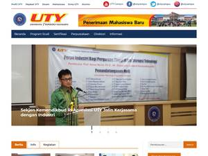 UTY University at uty.ac.id Screenshot