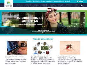 Universidad Cooperativa de Colombia's Website Screenshot