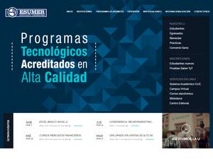 Institución Universitaria Esumer's Website Screenshot