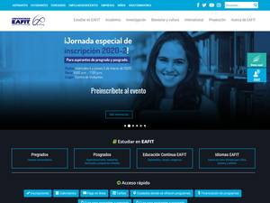 Universidad EAFIT's Website Screenshot