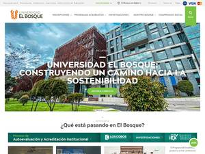 Universidad El Bosque's Website Screenshot