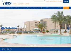 Sinai University's Website Screenshot