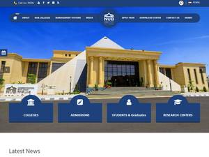 Nahda University's Website Screenshot
