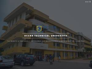 Accra Technical University's Website Screenshot