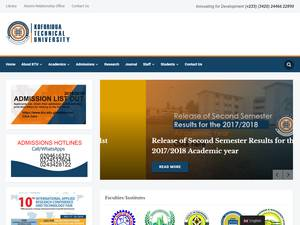 Koforidua Technical University's Website Screenshot