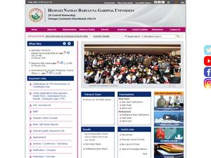 Hemwati Nandan Bahuguna Garhwal University's Website Screenshot