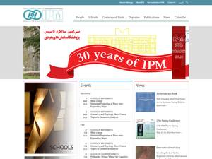 Institute for Research in Fundamental Sciences's Website Screenshot