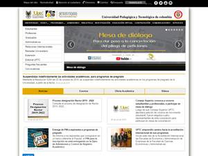 Universidad Pedagógica y Tecnológica de Colombia's Website Screenshot