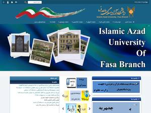 Islamic Azad University of Fasa's Website Screenshot