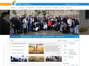 German Jordanian University's Website Screenshot
