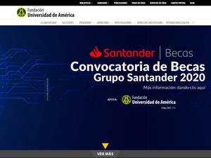 Universidad de América's Website Screenshot