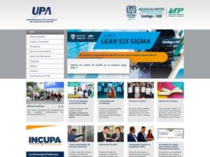 Universidad Politécnica de Aguascalientes's Website Screenshot