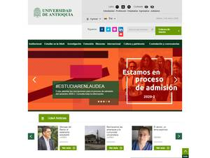 Universidad de Antioquía's Website Screenshot