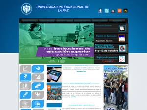 Universidad Internacional de La Paz's Website Screenshot