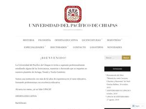 Universidad del Pacífico de Chiapas's Website Screenshot